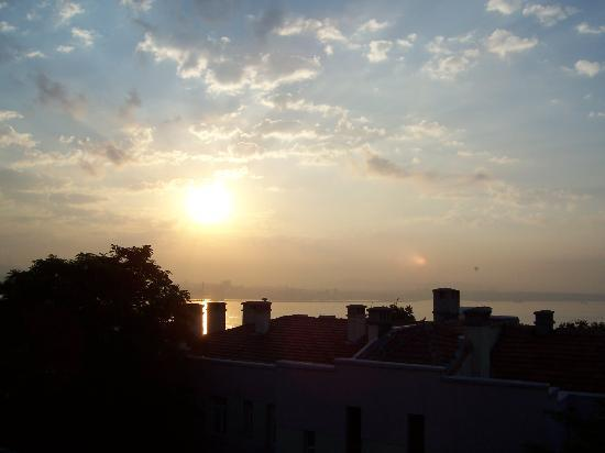 Askin Hotel: View of Bosporus from hotel room at dawn.