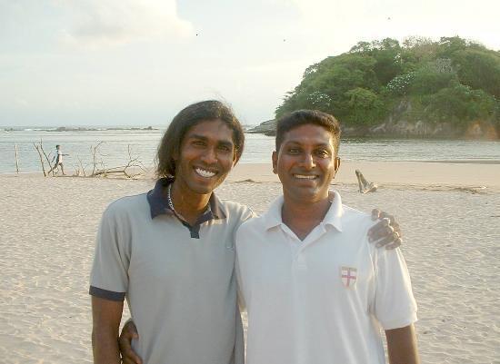 Eden Resort & Spa: Suranga & Susil off the beach