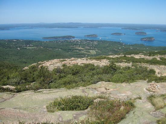 Bar Harbor Inn: Bar Harbor from Cadillac Mountain