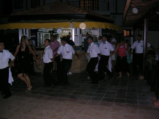 The Ship Inn: All the waiters enjoying the Cypriot night