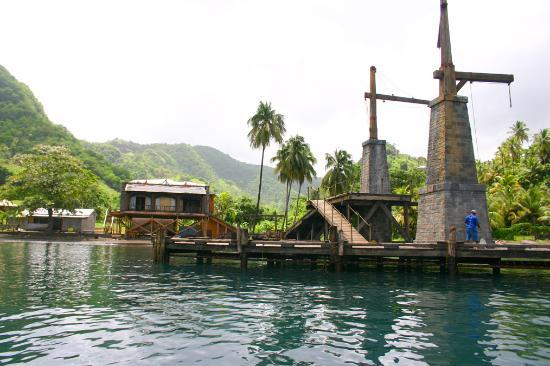 Young Island Resort Pirates Of The Caribbean Movie Set Dock On St