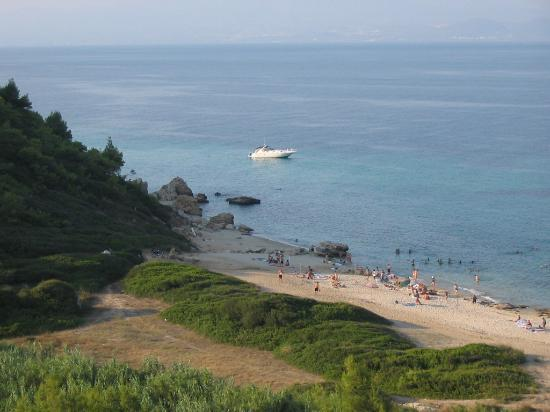 Aristoteles Beach Hotel: The hotel's beach