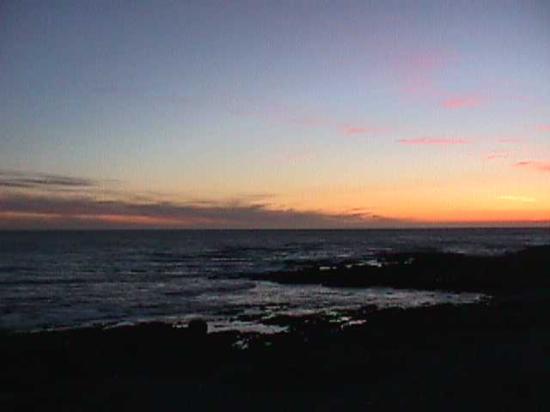 The Tides Inn of Shelter Cove: Sunset and shoreline.