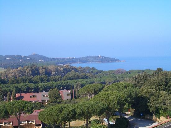 Punta Ala, Italia: A view of the bay from Gallia Palace Hotel