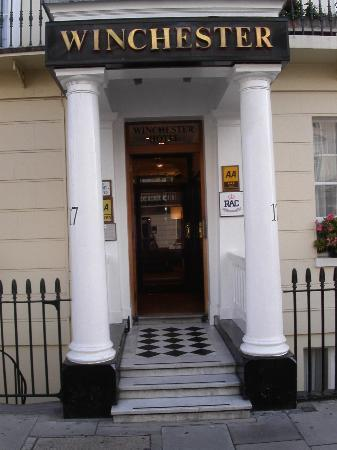 The Entrance of the Winchester Hotel