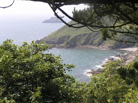 The Lugger Hotel: View from coastal path of the sea