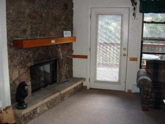 Wildwood Inn: Our gas fireplace, didn't use it this time..