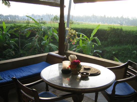 Alam Jiwa: each room has terrace looking onto rice paddies