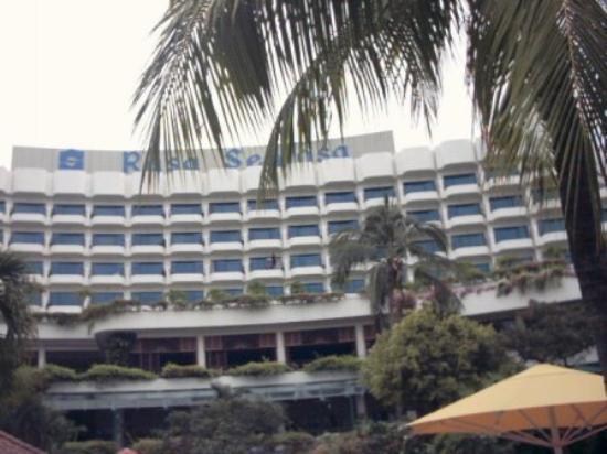 Shangri-La's Rasa Sentosa Resort & Spa: view from the pool