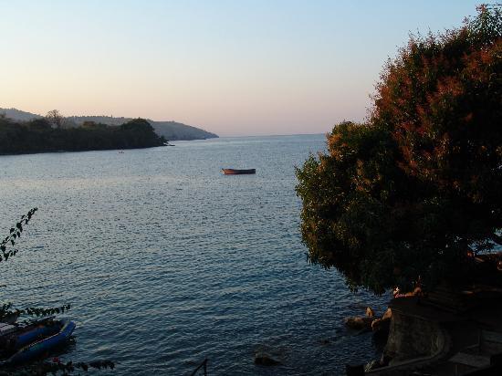 Mayoka Village: View from the restaurant deck area, around sunset