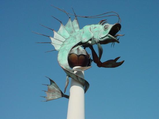 Plymouth, UK: The renowned Barbican Prawn