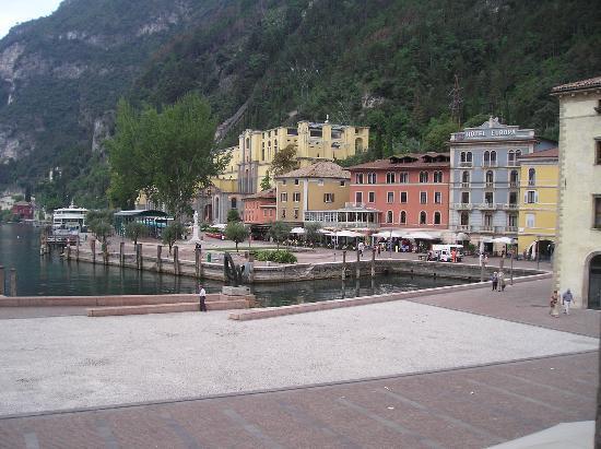 Centrale Hotel -- Riva Del Garda: Area in front of hotel