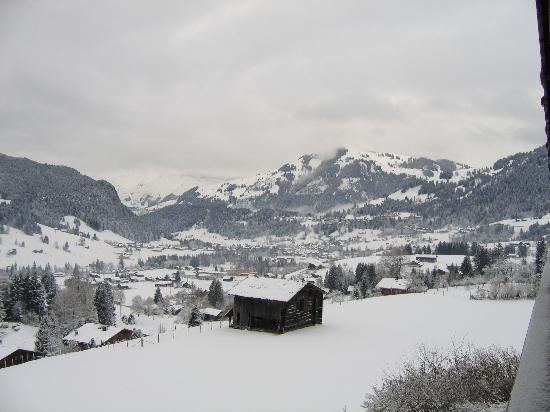 Hotel Le Grand Chalet: Snowing
