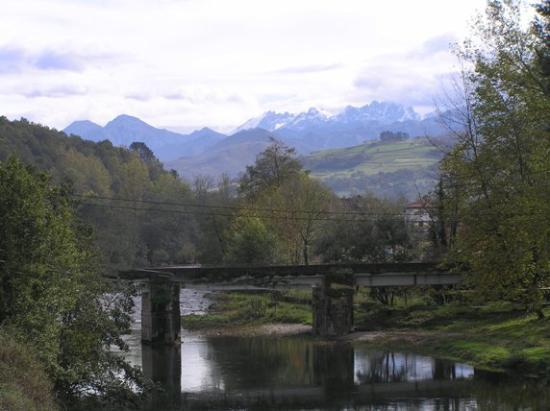 Parador de Cangas de Onís: View of the Picos and the River Sella, from the Parador's grounds