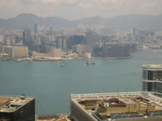 Island Shangri-La Hong Kong: Harbor view from Petrus at the top of the hotel