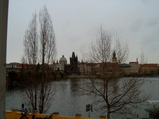 Archibald At the Charles Bridge: View from room