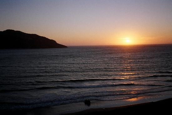 Las Flores Beach Resort: this is the sunset we experienced from the hotel room every single night!