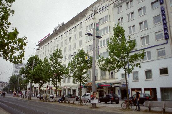 Star Inn Hotel Premium Bremen Columbus Exterior View Of Mercure On The