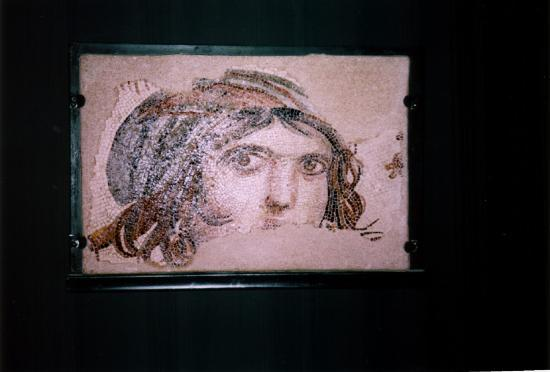 Gaziantep, Turquie : The gispy woman (the menad) in the mosaics museum
