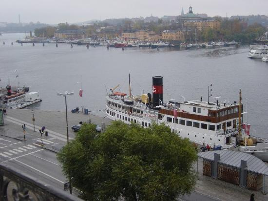 Hotel Diplomat: The view from our balcony - towards Skeppsholmen