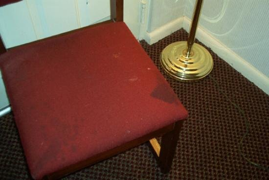 Travelers Inn & Suites Forest City : Stained Furniture