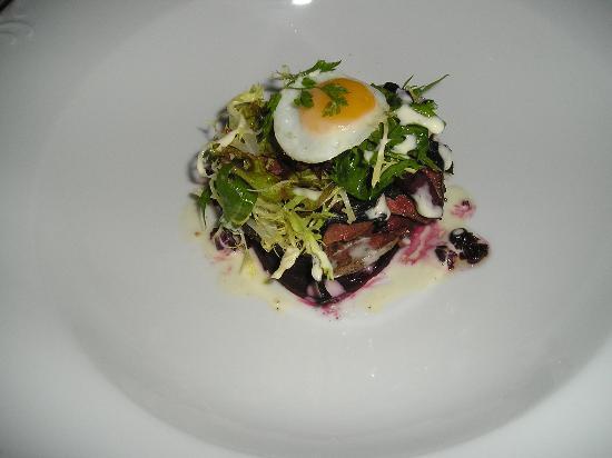 The Cafe - Porlock Weir: Pigeon and Beet Salad