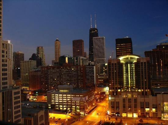 view from the room picture of sheraton grand chicago. Black Bedroom Furniture Sets. Home Design Ideas