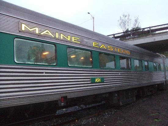 Maine Eastern Railroad car