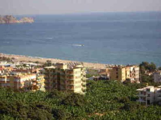 Kleopatra Beach: view from a villa