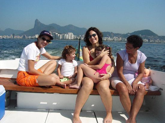 Rio de Janeiro, RJ: My happy family in a boat ride