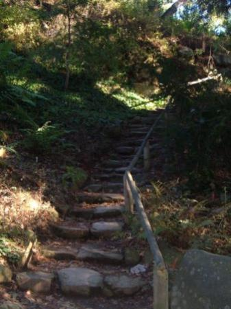 Santa Barbara, Kalifornien: Steps to one of the higher trails