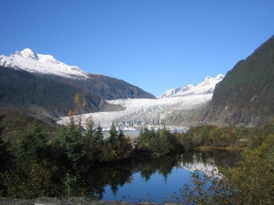 Alaska Wolf House : Mendenhall glacier.