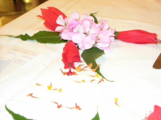 Hotel Kanta: part of table decoration
