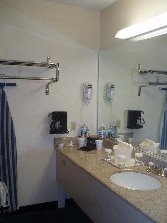 The Katella Palms Hotel at Disneyland Resort: sink & closet area