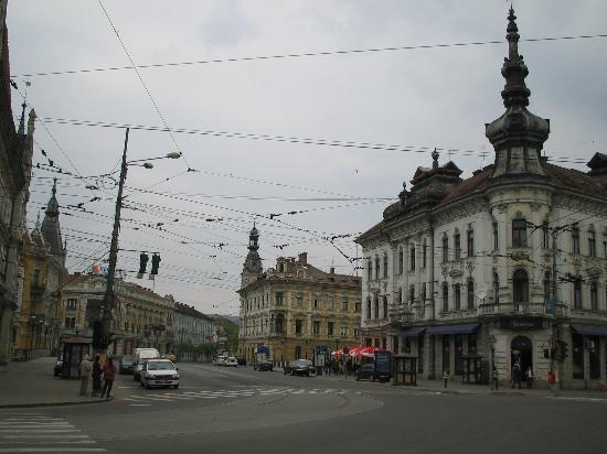 Cluj-Napoca, Romania: crossroad down town Cluj