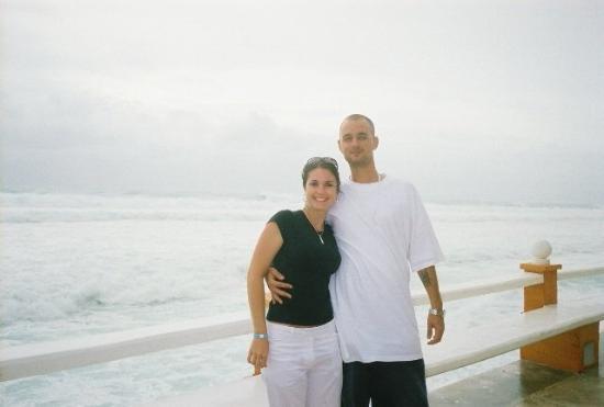 Mia Cancun: my girl and I evacuating for hurricane wilma