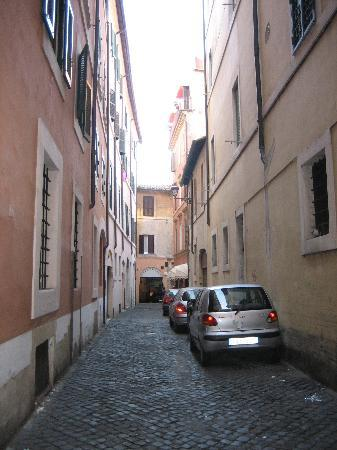 Hotel Due Torri: Hotel street (hotel on right)