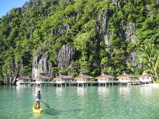 El Nido Resorts Miniloc Island: these stilt houses are nice too. imagine all the fish swimming right below your nose!