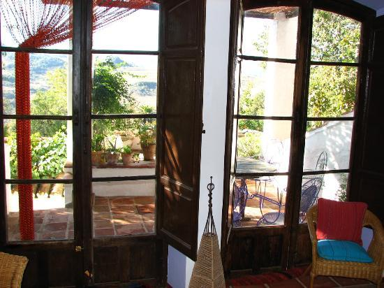 El Tejar: View From Common Room to Terrace