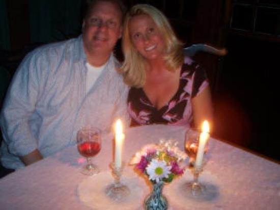 Herlong Mansion Bed and Breakfast Inn: private candlelight dinner in the beautiful dining room