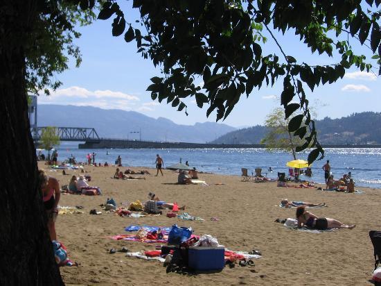 Siesta Suites: Kelowna, BC - Public Beach Area (July 05)