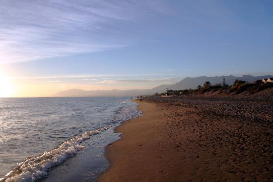 Elviria, Spania: The beach at the resort