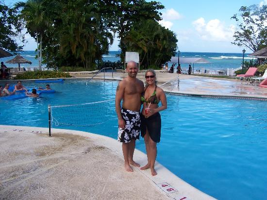 Couples Sans Souci : us by the main pool