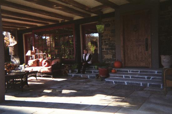 Ralph Stover's Centennial Barn: Outside porch