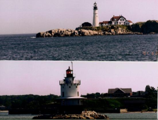 Casco Bay: lighthouses