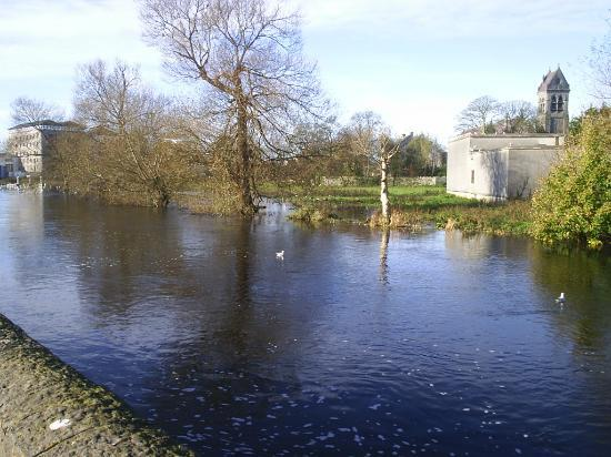 Ennis, Ierland: Rainfilled River