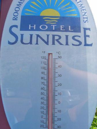 Sunrise Hotel: Nice temprature