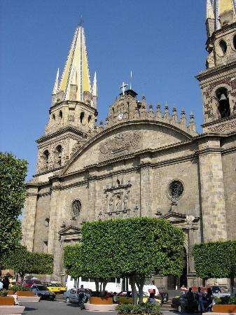 Guadalajara Cathedral : View of the main entrance area