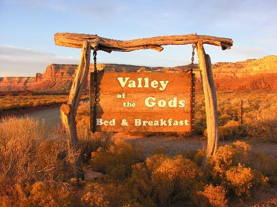 Valley of the Gods Bed and Breakfast: Only advertisement for miles