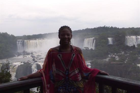"Foz do Iguacu, PR: Me in front of the Falls on the ""Brazil"" Side."